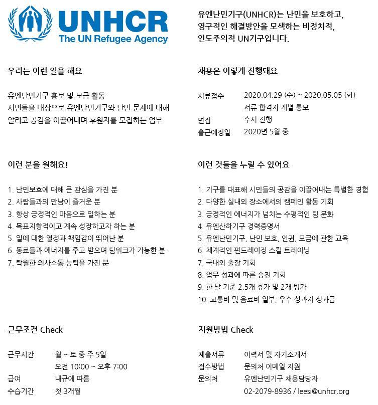 UNHCR 캠페이너 채용.JPG